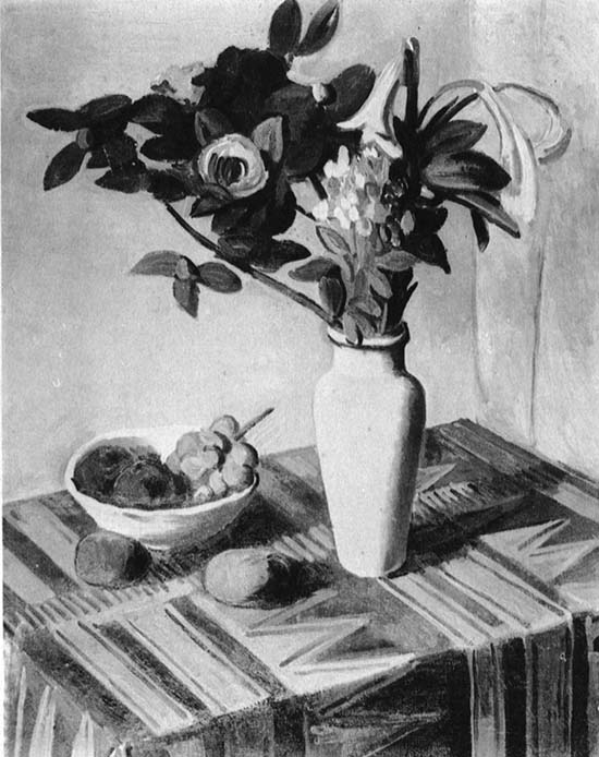 静物花卉设计素描