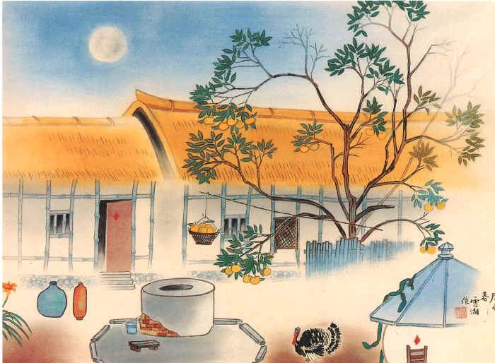 農家朝 郭雪湖 1940